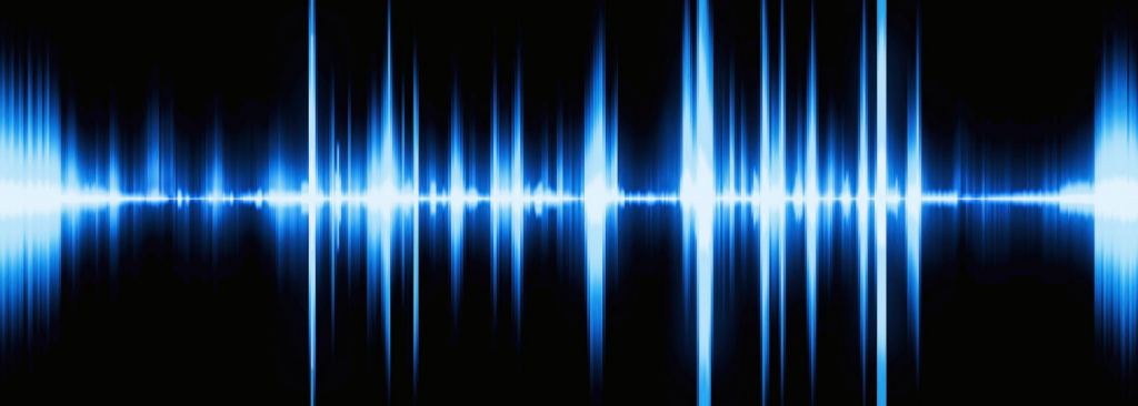 An image of a blue signal on a black background
